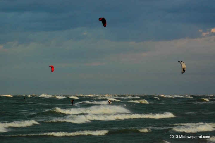 Kiteboarding at Holland State Park