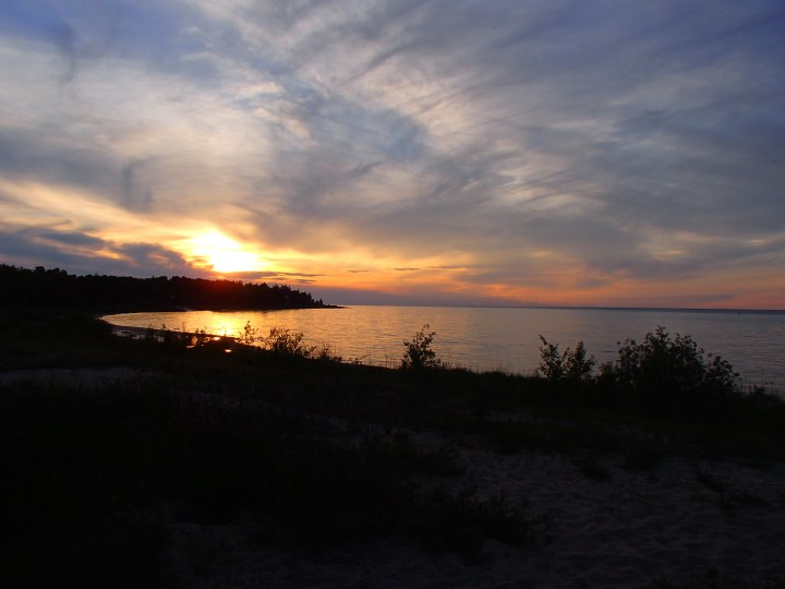 Watching the sunset from Wilderness State Park