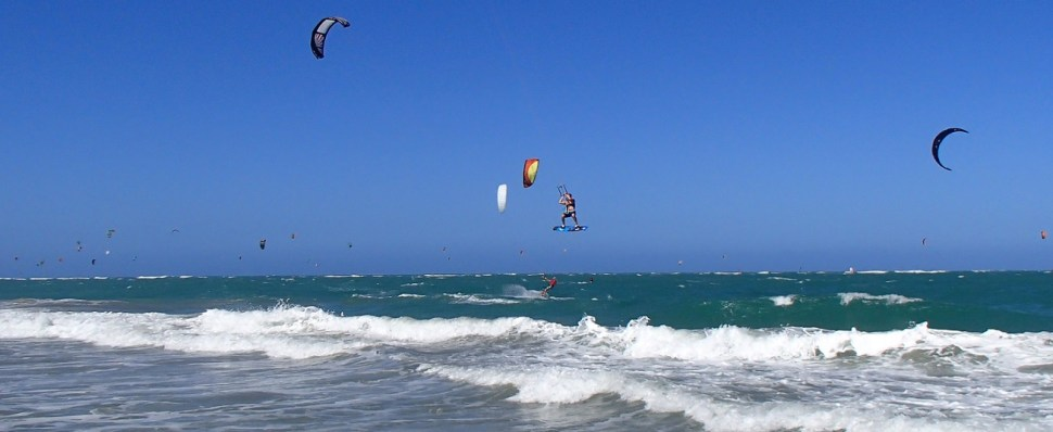Cabarete, DR, at the end of February 2015. Just an amazing week of kiteboarding.
