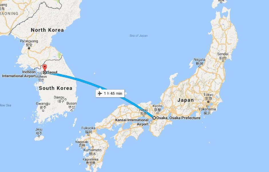 Osaka to Seoul