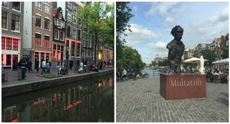 Left: Red Light District; Right: Multatuli's head
