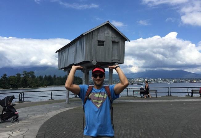 Superman raising the roof