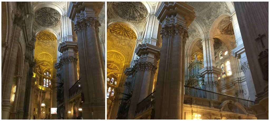 Interior of the Malaga Cathedral