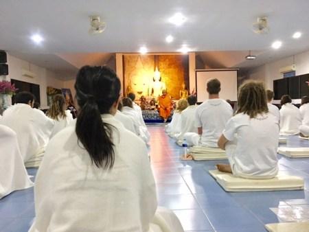 Inside the meditation center