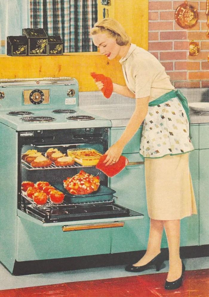 Vintage dinner preparation