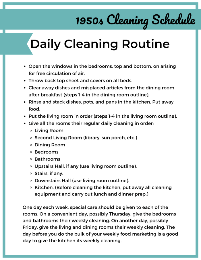 1950s Cleaning Schedule for a Very Vintage December: Day 2 by Mid-Century Modern Mommy