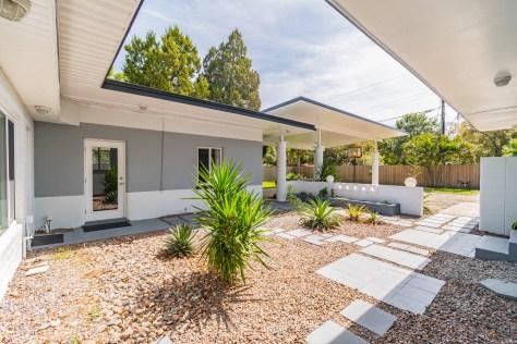 Mid Century Home Courtyard