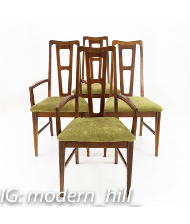 bassett furniture mid century dining chairs set of 4