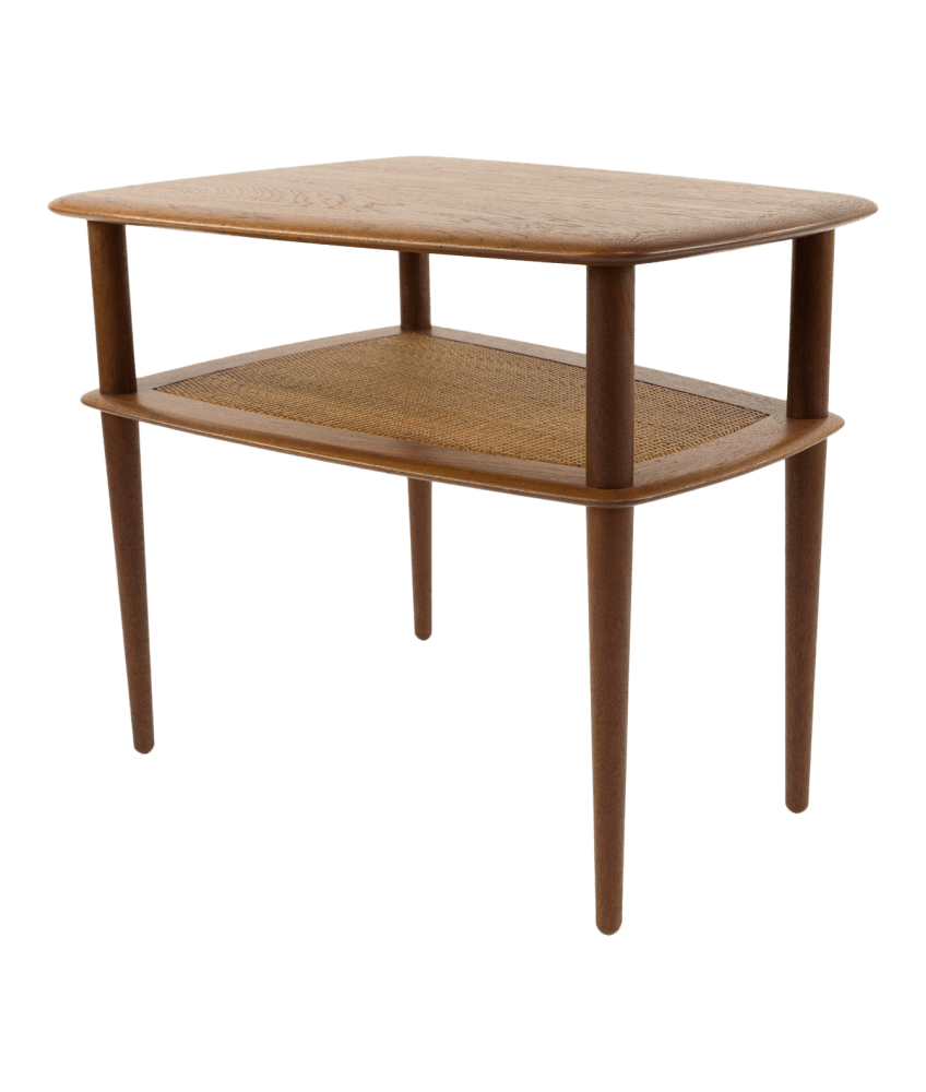 peter hvidt mid century modern two tier side end table