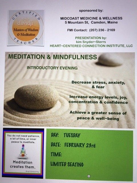 Meditation at Midcoast Medicine an Wellness