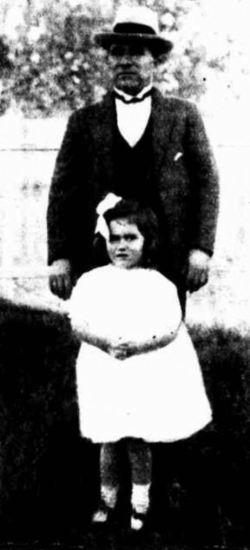 Oct 1924: Gwen Graham with her rescuer George Cassimaty. (4)