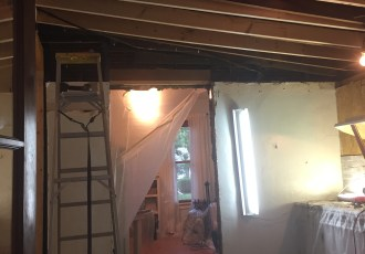 Enlarge Doorway and Create New Ceiling: DIY Kitchen Remodel