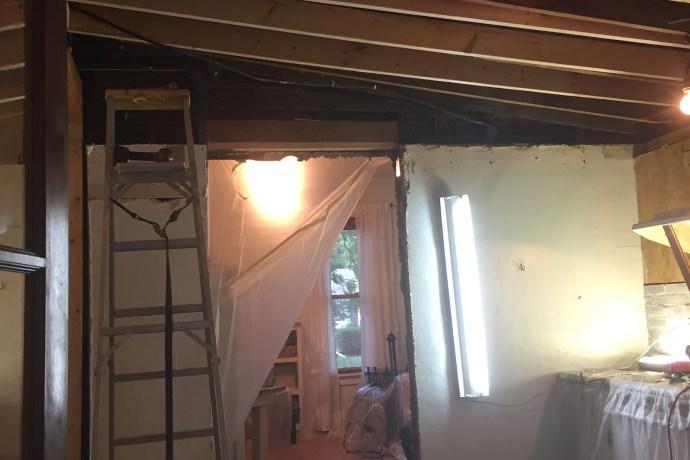 Enlarge Doorway and Create New Ceiling: DIY Kitchen Remodel