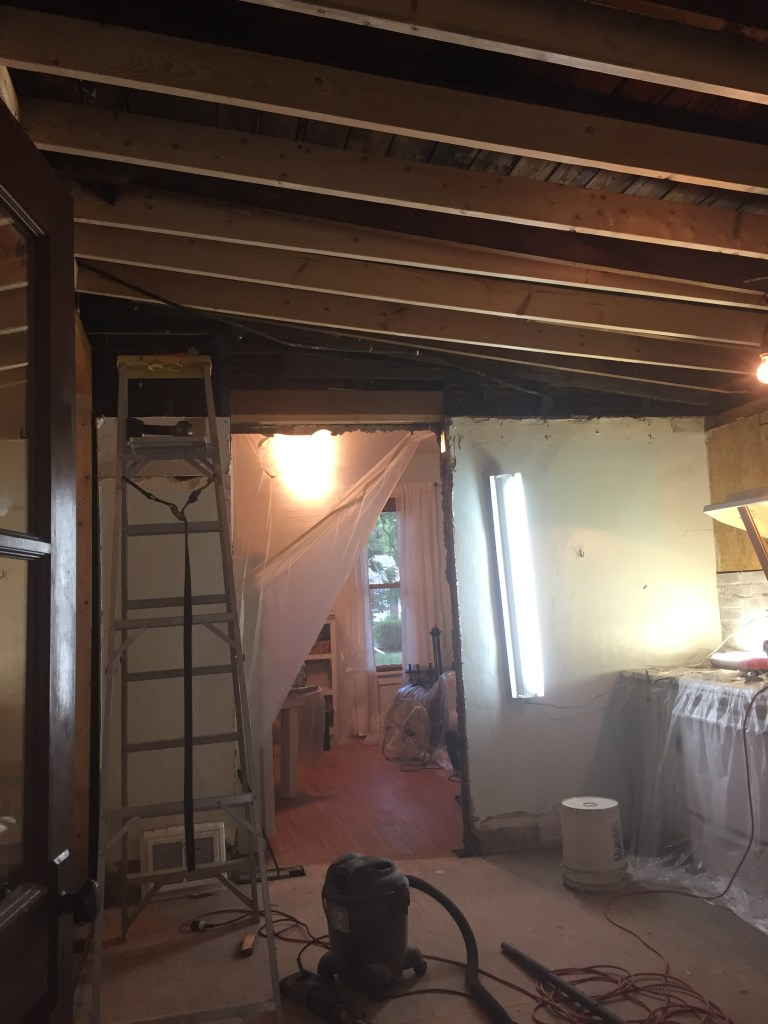 Enlarging a Doorway and Creating a New Kitchen Ceiling