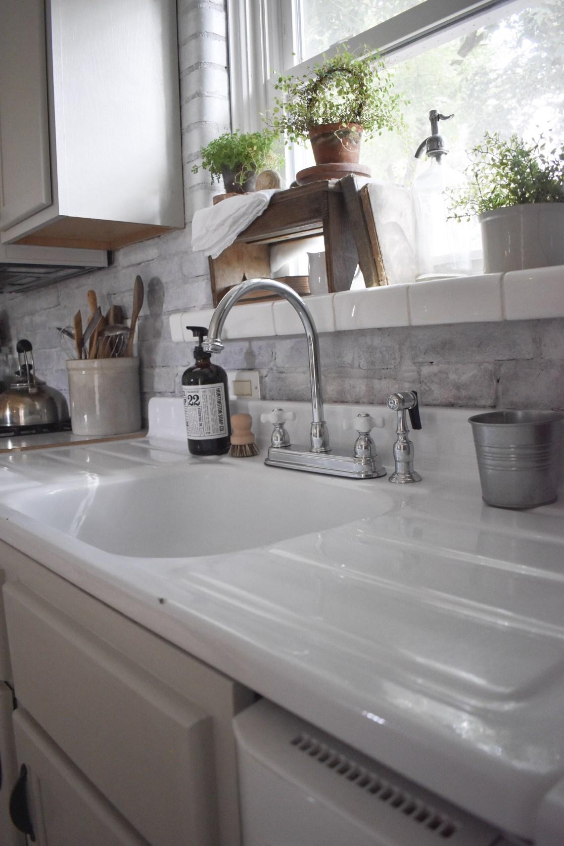 Vintage Washboard Kitchen Sink