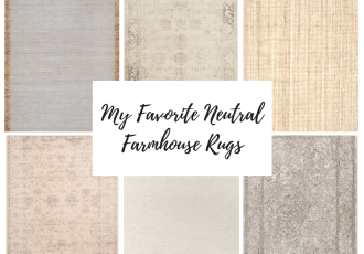My Favorite Neutral Farmhouse Rugs