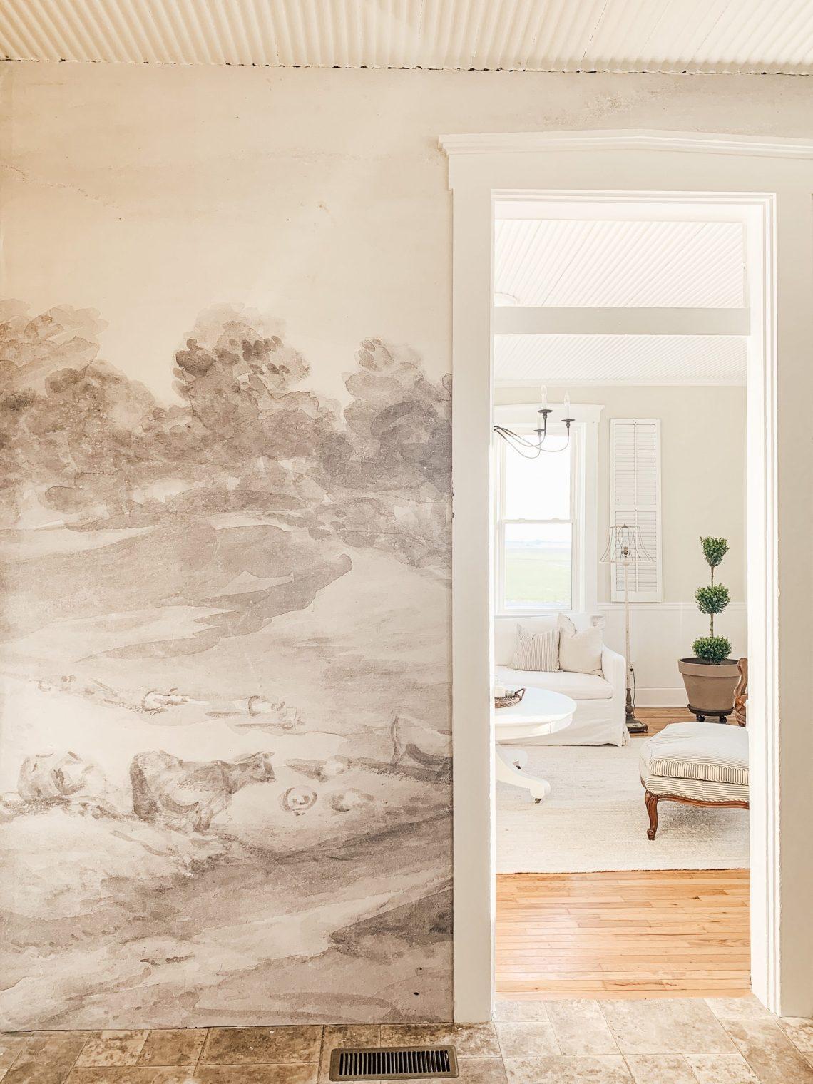 Farmhouse Style Wallpaper Mural