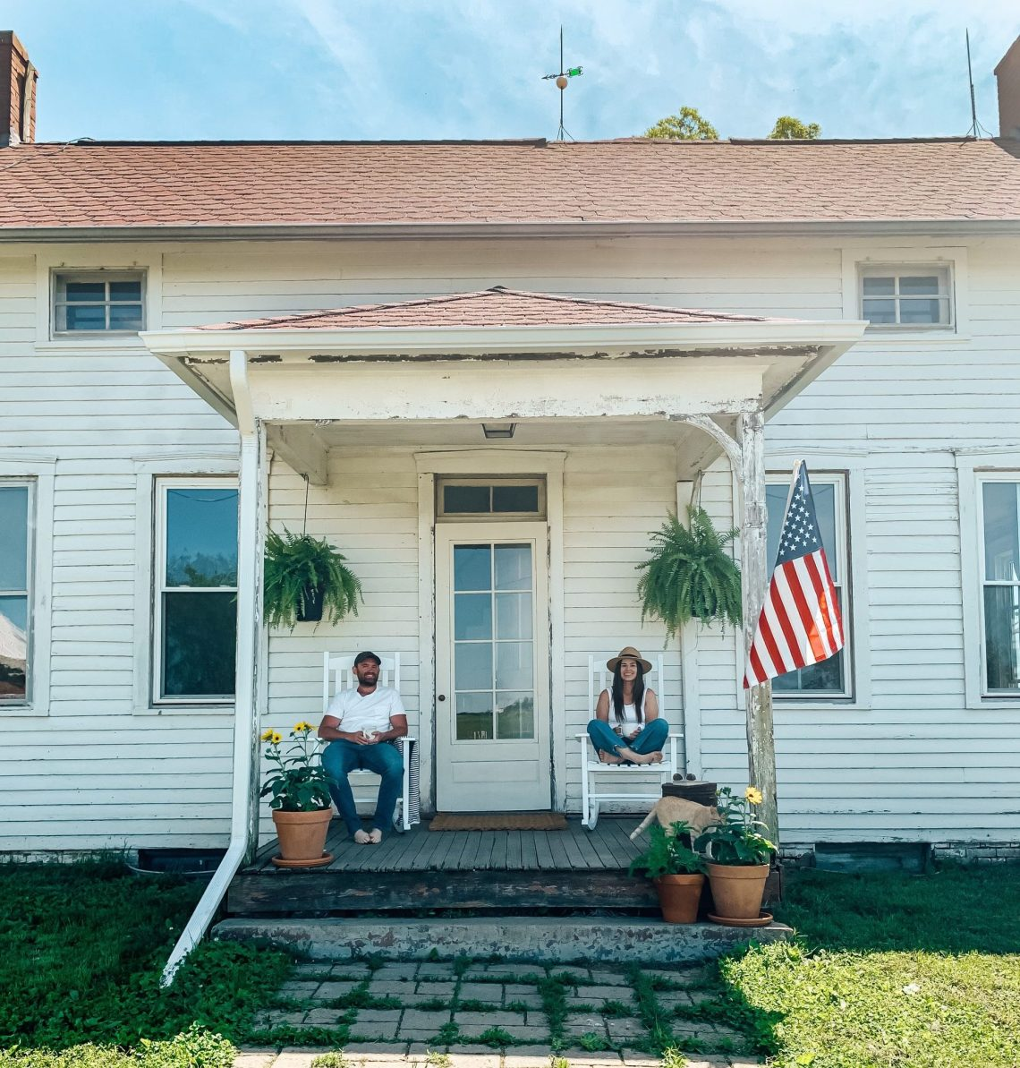 Summertime Farmhouse Front Porch