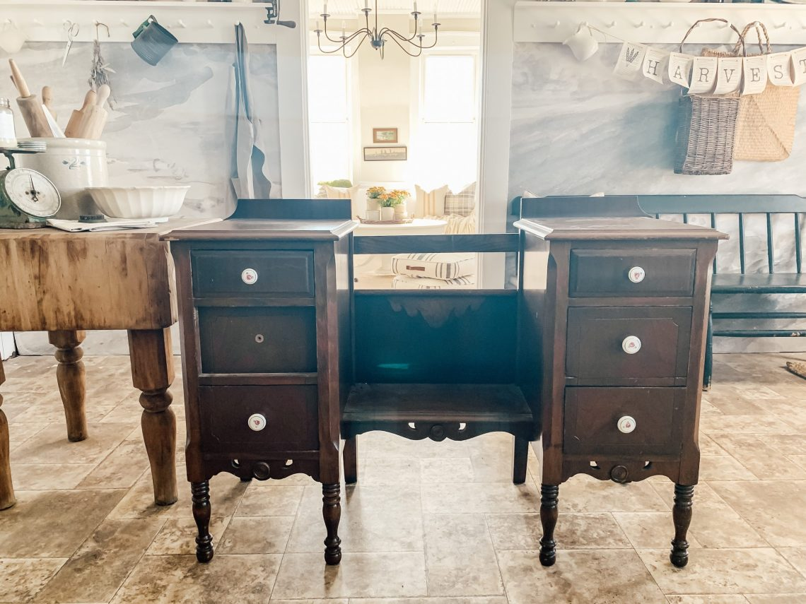 How to Make Nightstands from an Antique Vanity