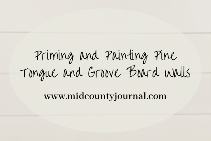 Priming and Painting Pine Tongue and Groove Walls