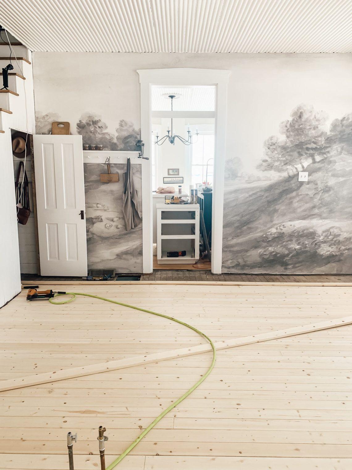 How We Installed Pine Board Flooring