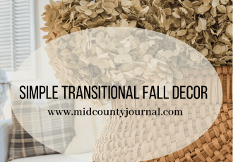Simple Transitional Fall Decor