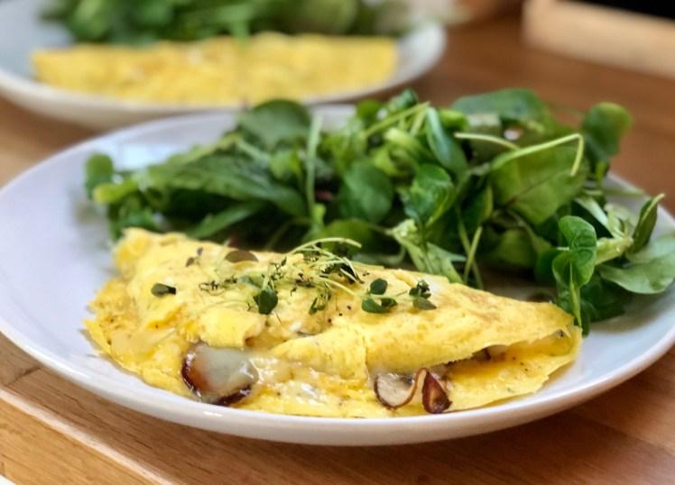 Recept omelett champinjoner svamp tryffelolja