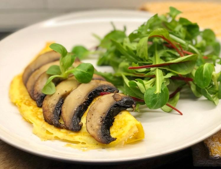 Recept omelett portabello svampomelett