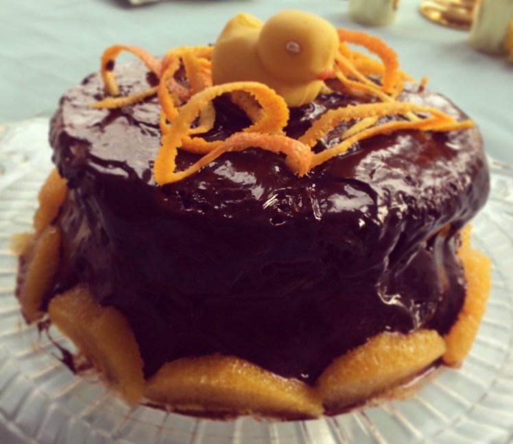 Chokladtårta med apelsin till påsk recept