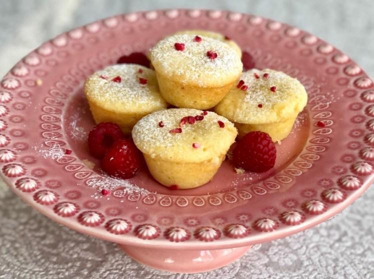 Hallonmuffins recept