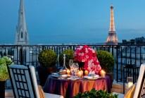 Dinner in Paris for our honeymoon