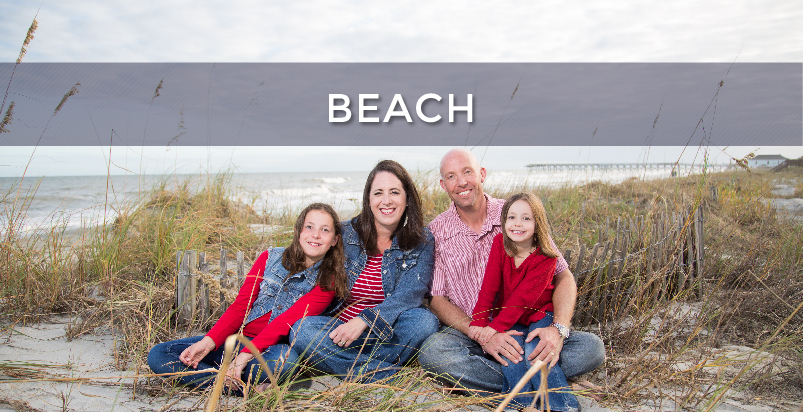 Beach button - Beach Photography - Family gathered on a beach