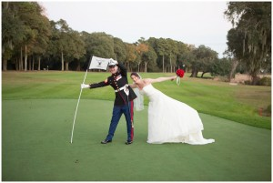 myrtle beach golf wedding photos