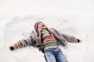 Girl Making Snow Angel