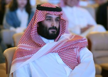 """Saudi Crown Prince Mohammed bin Salman attends the Future Investment Initiative (FII) conference in Riyadh, on October 24, 2017. The Crown Prince pledged a """"moderate, open"""" Saudi Arabia, breaking with ultra-conservative clerics in favour of an image catering to foreign investors and Saudi youth. """"We are returning to what we were before -- a country of moderate Islam that is open to all religions and to the world,"""" he said at the economic forum in Riyadh. /FAYEZ NURELDINE/AFP/Getty Images"""