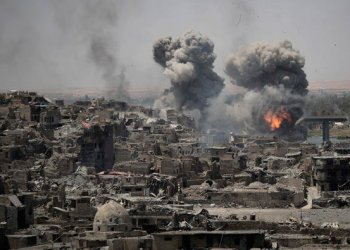 airstrikes target Daesh positions on the edge of the old city in Mosul, Iraq/AP
