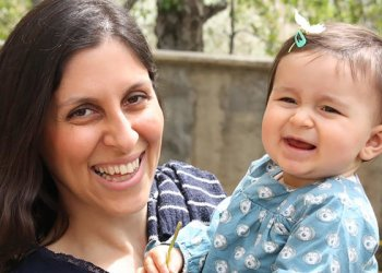 Nazanin Zaghari-Ratcliffe,left,poses for a photograph with her daughter Gabriella in an undated photo released by the Free Nazanin campaign in London/AFP