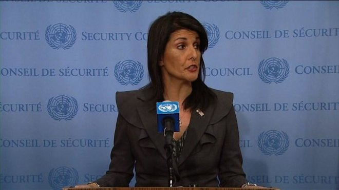 Nikki Haley, the US Ambassador to the United Nations/AFP