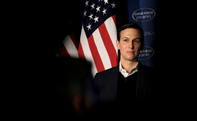 White House senior adviser Jared Kushner delivers remarks on the Trump administration's approach to the Middle East region at the Saban Forum in the US capital on December 3, 2017. (REUTERS/James Lawler Duggan/File Photo)