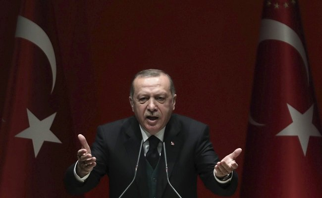 "Turkish President Recep Tayyip Erdogan accused Benjamin Netanyahu on Sunday of being ""a terrorist"" after the Israeli prime minister rejected Ankara's ""moral lessons"" over deadly clashes in Gaza. (AFP)"