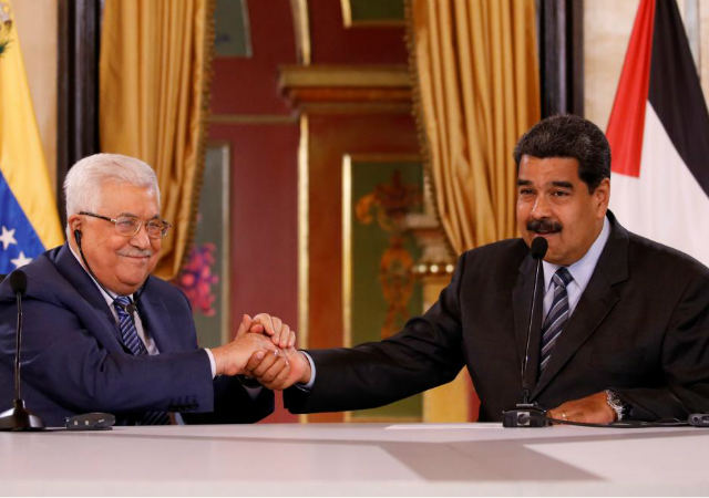 Mahmoud-Abbas- and Nicolás-Maduro agreed to incorporate the Venezuelan cryptocurrency 'petro' in their transactions. May 2018, Reuters