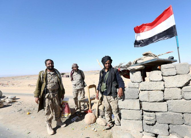 File photo showing Yemeni government troops at a checkpoint. (Reuters)