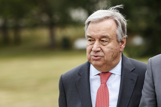 Photo showing UN Secretary General Antonio Guterres arrives to take part in the annual Kultaranta meeting on foreign and security policy on June 18, 2018 at the presidential Kultaranta summer residence in Naantali, Finland. /(AFP)