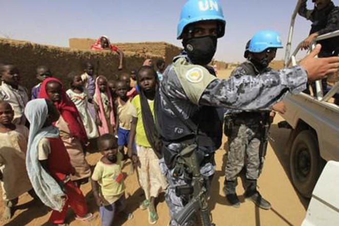File photo showing UN peace keepers in Darfur, Sudan. (Reuters)