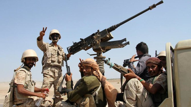 File photo showing Yemeni army troops advancing further in Saada Province. (AFP)