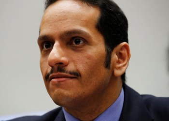 FILE PHOTO: Qatar's Foreign Minister Sheikh Mohammed bin Abdulrahman bin Jassim Al-Thani attends a side event at the Human Rights Council at the United Nations in Geneva, Switzerland February 26, 2018. REUTERS/Denis Balibouse