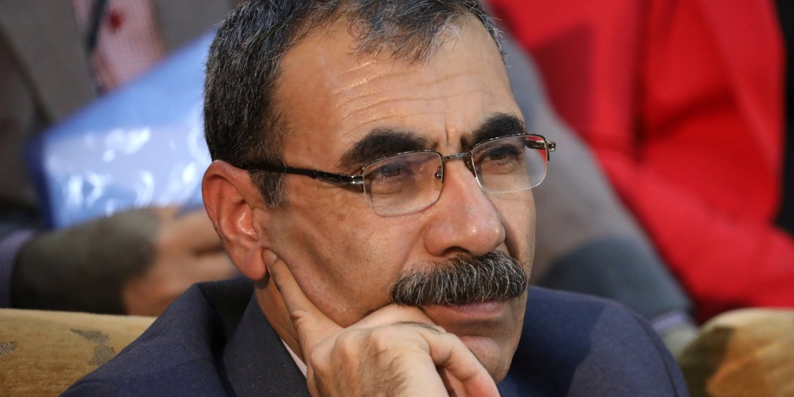 FILE PHOTO: Aldar Xelil, a Kurdish politician is seen in the town of Rmeilan, Hasaka province, Syria September 27, 2017. REUTERS/Rodi Said/File Photo