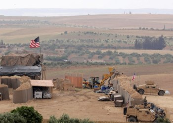 FILE PHOTO: U.S. forces set up a new base in Manbij, Syria May 8, 2018. REUTERS/Rodi Said/File Photo