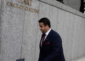 File photo showing Saudi Arabian ambassador to the US, Prince Khalid bin Salman, arriving at Capitol Hill in Washington. (Reuters)