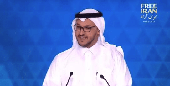Head of the Saudi American Public Relation Affairs Committee, Salman Al-Ansari, said the Iranian opposition is sending a strong message of hope and peace against the regime. (Screengrab)